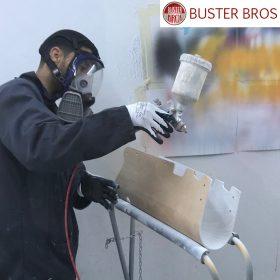 Peinture à la main du porteur Buster T pour enfant et bébés